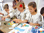 Romanian traditional customs, creative arts camp from Muntenii de Sus