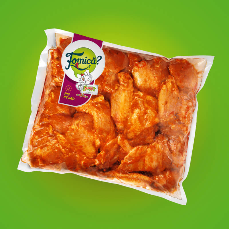 Spicy chicken wings, frozen